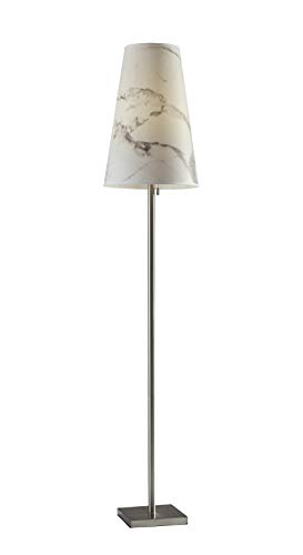 Adesso 1550-22 Ava Floor Lamp, Brushed Steel