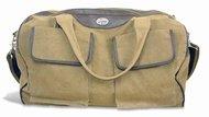 NCAA Kansas State Wildcats Men's Canvas Concho Duffel Bag, Khaki, One Size by ZEP-PRO (Image #1)
