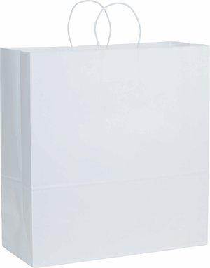 用紙Grocery Bags withハンドル、Debbie、ショッピング、商品、小売、パーティー、ギフトバッグ、パックの50バッグ 18x7x19 ホワイト B07BGBWBWH 18x7x19|ホワイト ホワイト 18x7x19