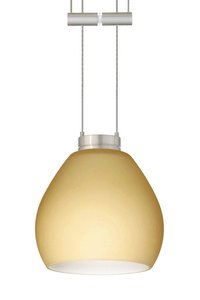 Besa Lighting 1XT-5605VM-SN Tay Tay Pendant with Vanilla Matte Glass, Satin Nickel Finish (Vanilla 5605vm Matte)
