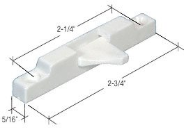 CRL White Window Sash Flip Lock - Bulk 20/PK