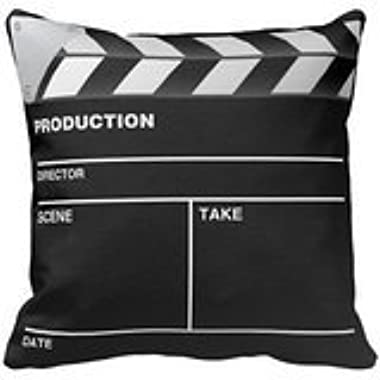 Movie maker Clap Board Throw Pillow Personalized 18x18 Inch Square Cotton Throw Pillow Case Decor Cushion Covers