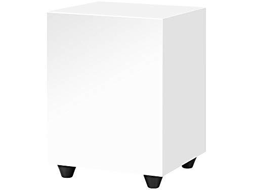 Pro-Ject Sub Box 50, compacte actieve subwoofer met lage en hoge niveau-input (wit)