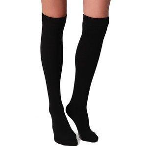 Calcetines por encima de la rodilla, para uniforme de colegio, talla 32 a 34