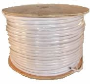 500 Foot Reel CCTV Cable - RG59 with 18/2 - Siamese White