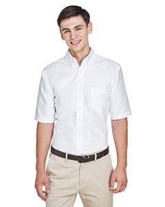 UltraClub Men's Classic Wrinkle-Free Short-Sleeve Oxford(White) (3XLarge)