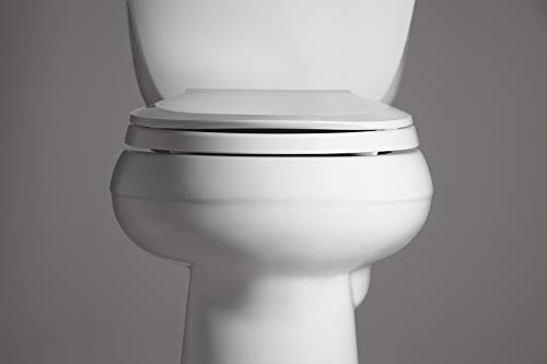 Kohler K 4639 0 Cachet Round White Toilet Seat With Grip