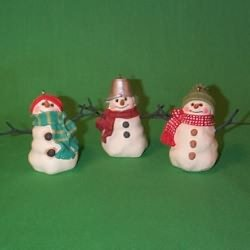 The Snowmen of Mitford Set of 3 Ornaments Hallmark Keepsake 1999 (Snowmen Ornament Set)