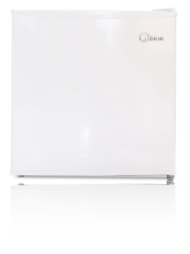 : Midea WHS-52FW1 Compact Reversible Single Door Upright Freezer, 1.1 Cubic Feet, White