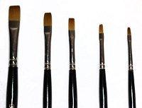 Loew Cornell Golden Taklon 5 Piece Shader Brush Set, 7300 Series