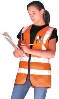 Occunomix LUX-SSFS-OM Premium Solid Dual Stripe Surveyor Vest, Medium, Orange by Occunomix