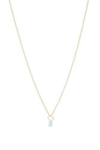 - HONEYCAT Green Jade Wish Upon a Crystal Necklace in 24k Gold Plate | Minimalist, Delicate Jewelry (G)