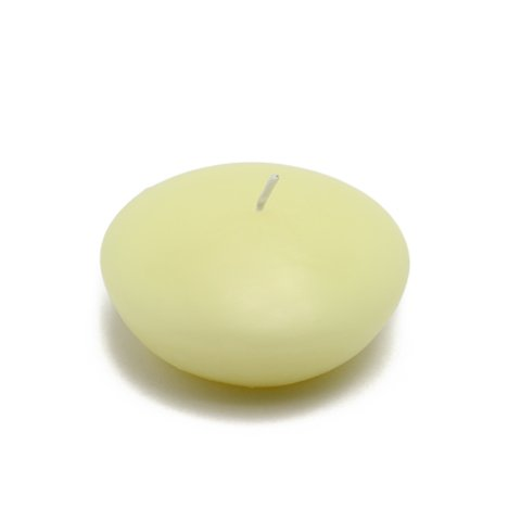 3'' Ivory Floating Candles (144pcs/Case) Bulk by Jeco Inc.