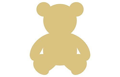 Teddy Bear Style 1 Unfinished Wood Shape Cutout Variety Sizes USA Made Home Nursery Decor (6