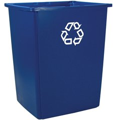 RCP256B73BLU - Glutton Recycling Container, Rectangular, 56 Gal, Blue
