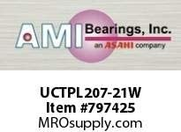 AMI UCTPL207-21W 1-5//16 WIDE SET SCREW WHITE TAKE-UP BEARING