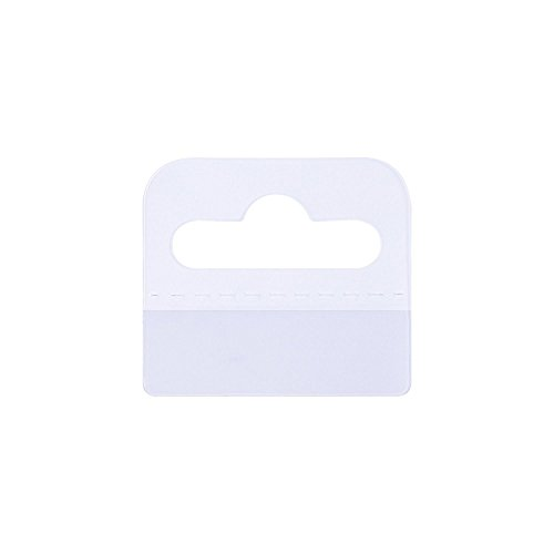 D-worthy 240pcs PVC Plastic Clear Slot Hole Adhesive Foldable Custom Hang Tabs Tags Hook for Store Retail Display, 1.75 x 1.5 inches (Tab Hang Box)
