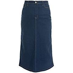 Ladies Women's Indigo Stretch Denim Maxi Skirt Sizes 10 To 28 (22). Length 35