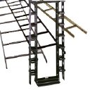 Cooper Tools / B-Line - SB8361908436FB - 7' H X 19' W Mounting 36' D 4 Post Alum Rack Flat Black