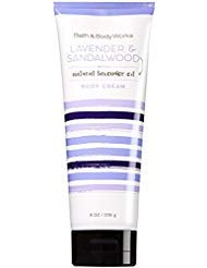 (Bath and Body Works Lavender and Sandalwood Body Cream 8 Ounce Full Size Moisturizing Cream)