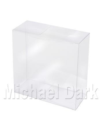 Pack de 12 transparente acetato de tocado presentación cajas (28 x 28 x 6,