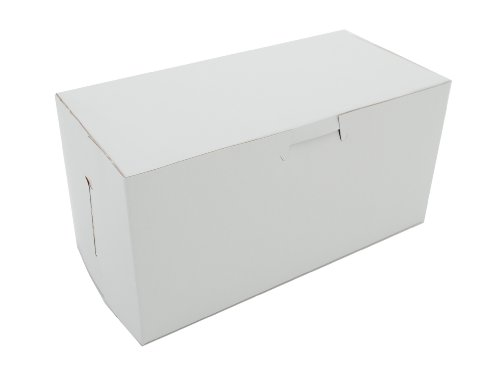 Window Corner Non Lock (Southern Champion Tray 0924 Premium Clay Coated Kraft Paperboard White Non-Window Lock Corner Bakery Box, 8