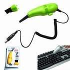 CablesToBuy™ Black USB Powered Mini Vacuum Cleaner