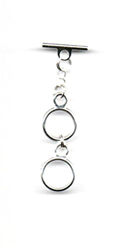 KaShDa Multi-Ring 14MM Silver Plated Toggle Bar Necklace Extenders 1 to 13 Rings - 1 5/8