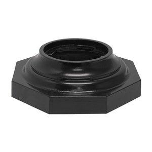 Tapco 203-00130 Aluminum Octagon Slip-Over Base, 7-1/2'' Diameter x 15'' Width x 4-3/4'' Height, Black