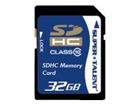Super Talent 32GB Secure Digital High Capacity SDHC Card (Class 10), Model SDHC32-C10