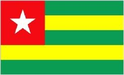 Novelties Direct Togo//Togolese Flag 5ft x 3ft 100/%poly With Eyelets For Hanging Qty per unit: 1