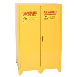 (Eagle 1992LEGS Tower Safety Cabinet for Flammable Liquids, 2 Door Manual Close, 90 gallon, 69