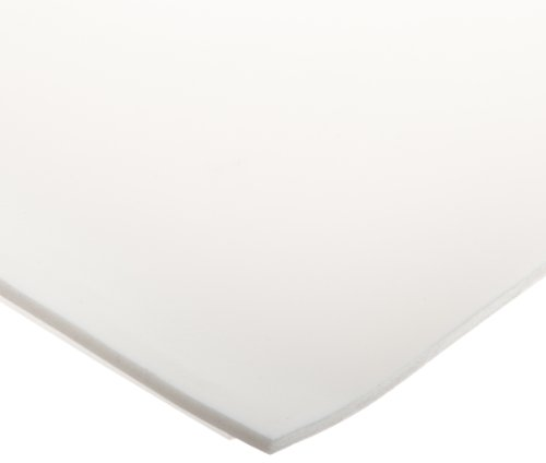 CS Hyde Silicone Foam, Open Cell, Commercial Grade, Light Density, 0.125'' Thick, White, 12'' Width, 12'' Length by CS Hyde