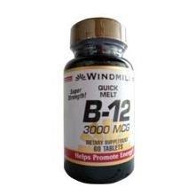 Lozenges Windmill Vitamins (Vitamin B-12 LOZENGE 3000MCG WMILL Size: 60)
