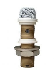 Continuously Variable Polar Pattern - Astatic Variable Pattern Installation Boundary Button Microphone,  White