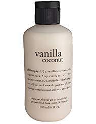 Philosophy Vanilla Coconut Shampoo, Shower Gel & Bubble Bath, 180ml/6oz