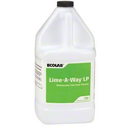 Ecolab 18700 Lime Away Cleaner & LimeAway Delimer, Commercial-Strength Lime-Away Obliterates Nastiest Crud & Grime (4gl/cs)