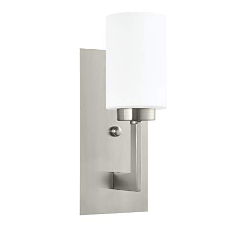 Backplate Polished Brass 4in (Brio Wall Sconce Light Fixture | Brushed Nickel Bathroom Wall Fixtures LL-WL151-BN)