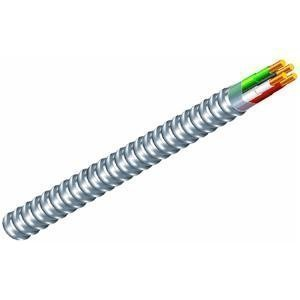 Southwire 68583423 12/3 Type 100-Feet 12-Gauge 3 Conductors MC Solid Metal Clad Cable with Aluminum Armor and Green Insulated Ground Wire by Southwire