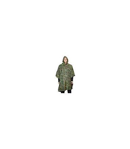 Mil-Tec Waterproof Ripstop Hooded Nylon Poncho Arid Woodland Camo