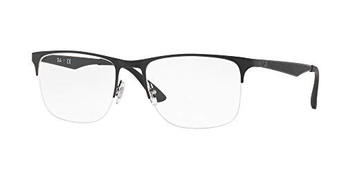 Ray-Ban Half Rim Square Men\'s Spectacle Frame - (0RX6362286155|55 ...
