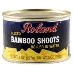 Roland Bamboo Shoots Sliced Boiled In Water 8 OZ (Pack of 4)