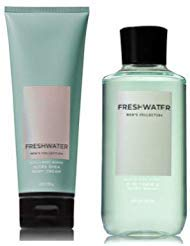 - Bath and Body Works Men's Collection Freshwater 2 in 1 Hair and Body Wash 10 Oz and Body Cream 8 Oz.