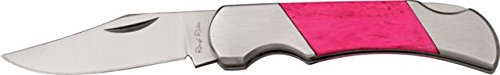 Rough Rider Pinto II Pink Fold Knife, SS clip blade, Pink smooth bone handle