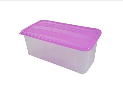 IMOX Food Grade Plastic Bread and Butter Smart Storage Box for Fridge (Multicolor, Medium, 2.5 L)