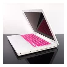 """TopCase PINK Keyboard Silicone Skin Cover for Macbook 13"""" 13.3"""" (1st Generation/A1181) with Free Mouse Pad"""