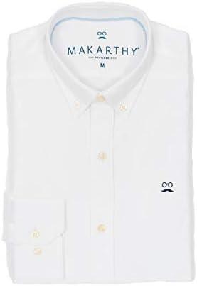 MAKARTHY - Camisa Classic Oxford Noos Hombre Color: 010 Blanco Talla: Size S: Amazon.es: Ropa y accesorios
