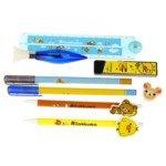 Cartoon 8-in-1 Pen Ruler Eraser Stationery Set-Rilakkuma