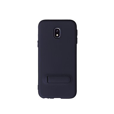 Casos hermosos, cubiertas, Funda Para Samsung J7 (2016) con Soporte Funda Trasera Color sólido Suave TPU para J7 (2016) J7 J3 Pro ( Color : Negro , Modelos Compatibles : Galaxy J7(2016) ) Negro