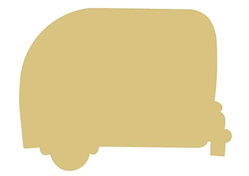- Camper Cutout Unfinished Wood Camper Decor Vintage RV Door Hanger MDF Shape Canvas Style 1